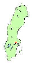 Location of city Västerås